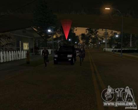 Protection sur une jeep pour GTA San Andreas quatrième écran