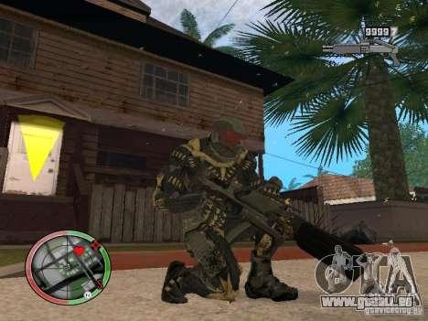 Sammlung von Waffen von Crysis 2 für GTA San Andreas sechsten Screenshot