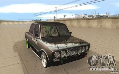 VAZ 2106 Lada Drift abgestimmt für GTA San Andreas Rückansicht