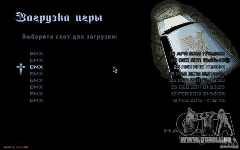 Le menu de la Nogaystan jeu de GTA pour GTA San Andreas quatrième écran
