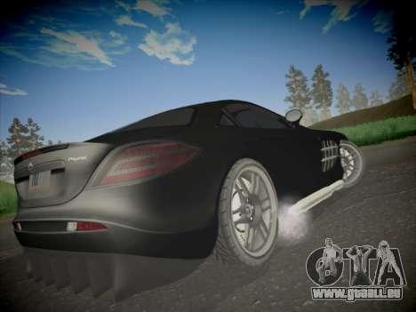 Mercedes-Benz SLR 722 Custom Edition pour GTA San Andreas sur la vue arrière gauche