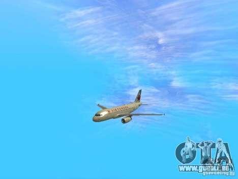 Airbus A319 Air Canada pour GTA San Andreas vue arrière