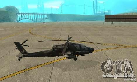 An-64 Apache pour GTA San Andreas laissé vue