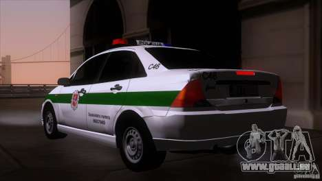 Ford Focus Policija für GTA San Andreas linke Ansicht