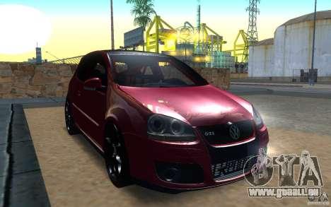 VolksWagen Golf GTI MK5 pour GTA San Andreas laissé vue
