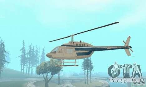 Bell 206B JetRanger II für GTA San Andreas Innenansicht