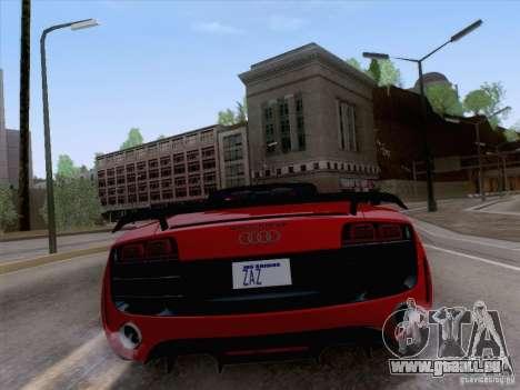 Audi R8 GT Spyder für GTA San Andreas rechten Ansicht