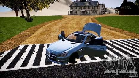Mercedes-Benz SLK 2012 pour GTA 4 vue de dessus