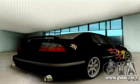 Saab 9-5 Sedan Tuneable pour GTA San Andreas vue arrière