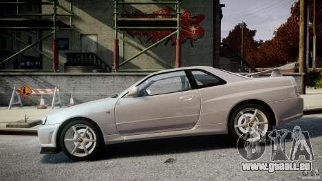 Nissan Skyline GT-R R34 2002 v1 pour GTA 4 est une gauche