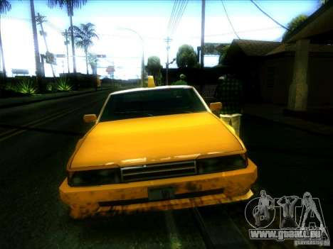 Sunrise Taxi pour GTA San Andreas vue arrière