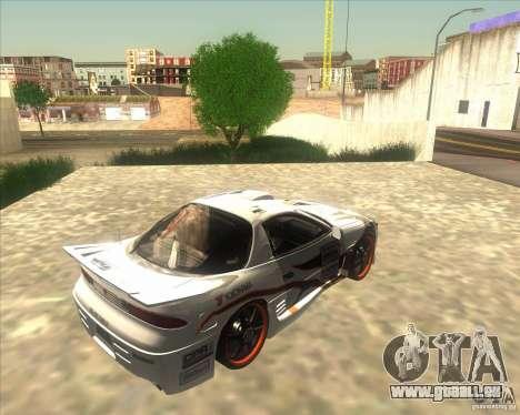 Mitsubishi 3000 GT pour GTA San Andreas sur la vue arrière gauche
