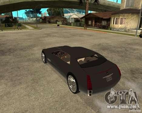 Cadillac Sixteen pour GTA San Andreas laissé vue