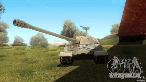 IS-7 Heavy Tank pour GTA San Andreas sur la vue arrière gauche