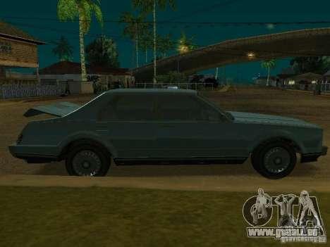 Les taxis romains de GTA4 pour GTA San Andreas vue arrière