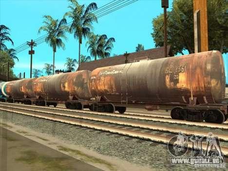 2 wagons pour GTA San Andreas sur la vue arrière gauche