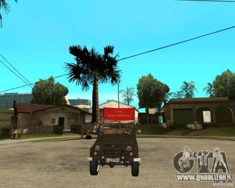 UAZ 469 Parade pour GTA San Andreas vue arrière