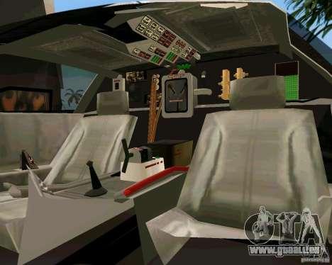 BTTF DeLorean DMC 12 pour GTA Vice City sur la vue arrière gauche