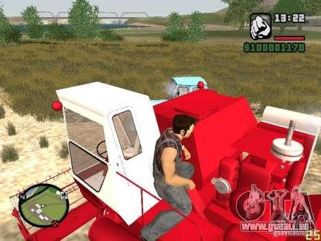 SK-5 Niva Mähdrescher für GTA San Andreas zurück linke Ansicht