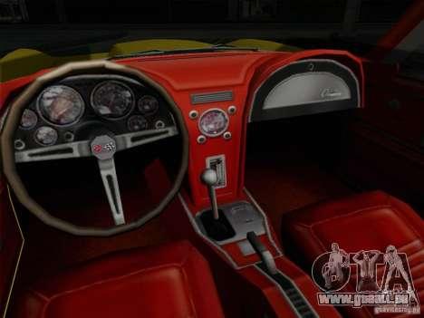 Chevrolet Corvette 1967 für GTA San Andreas Rückansicht
