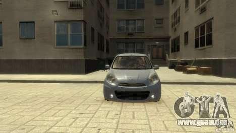 Nissan Micra pour GTA 4 est une gauche