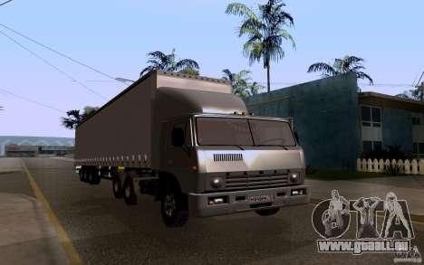 KAMAZ 55111 pour GTA San Andreas vue arrière