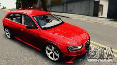Audi RS4 Avant 2013 v2.0 für GTA 4 Rückansicht