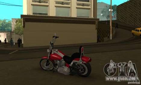 Harley Davidson softail Skin 1 pour GTA San Andreas vue arrière