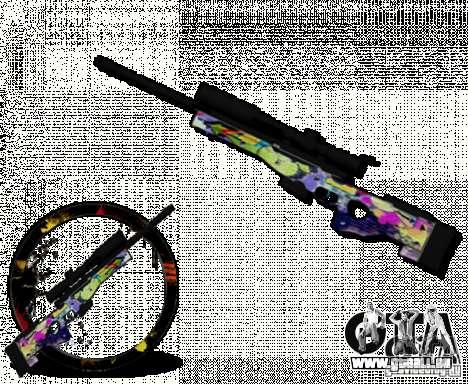 Sniper Grafite pour GTA San Andreas