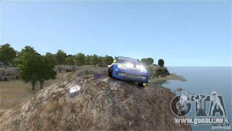 Subaru Impreza WRX STI Rallycross BFGoodric pour GTA 4 Vue arrière
