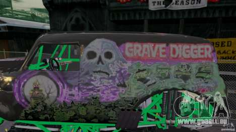 Grave digger für GTA 4 linke Ansicht