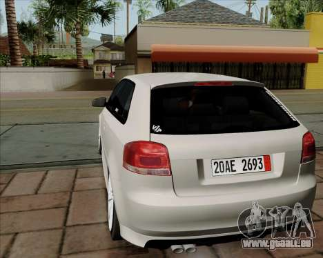 Audi S3 V.I.P pour GTA San Andreas vue de droite