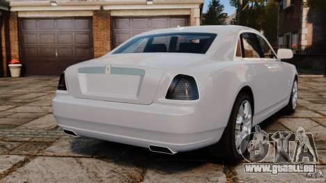Rolls-Royce Ghost 2012 pour GTA 4 Vue arrière de la gauche