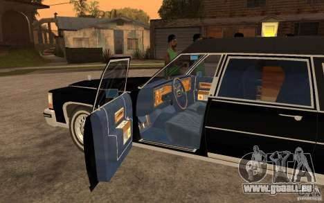 Cadillac Fleetwood Hearse 1985 für GTA San Andreas linke Ansicht
