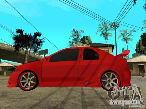 Dacia Logan Tuned v2 pour GTA San Andreas laissé vue