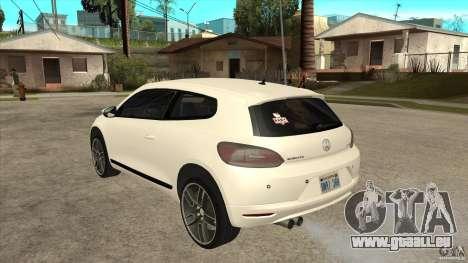 Volkswagen Scirocco 2009 pour GTA San Andreas sur la vue arrière gauche