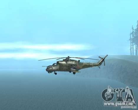 Mi-24p pour GTA San Andreas vue de droite