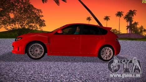 Subaru Impreza WRX STI (GRB) - LHD pour une vue GTA Vice City de la gauche