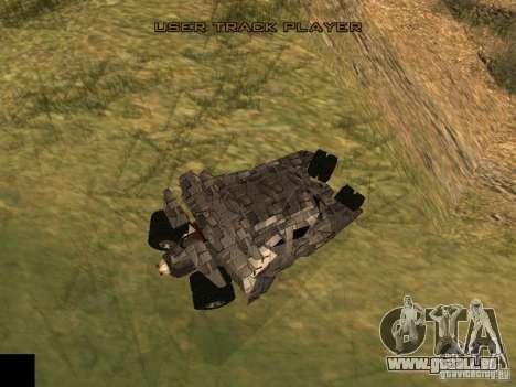 Batman Car pour GTA San Andreas sur la vue arrière gauche