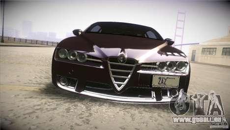 Alfa Romeo Brera Ti pour GTA San Andreas vue de dessus