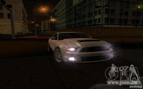 Shelby Mustang 1000 2012 pour GTA San Andreas sur la vue arrière gauche