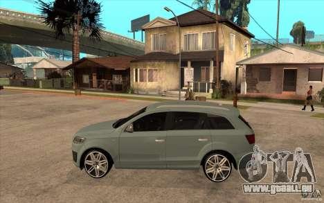 Audi Q7 V12 TDI 2011 pour GTA San Andreas laissé vue