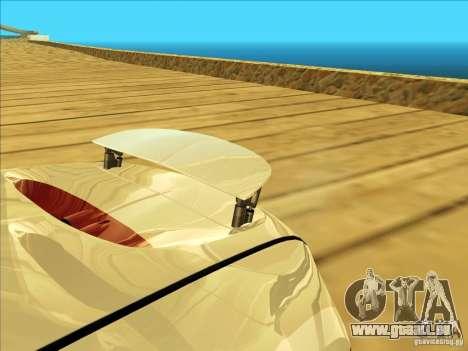Bugatti Veyron pour GTA San Andreas vue arrière
