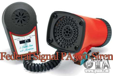 Federal PA300 Sirene für GTA 4