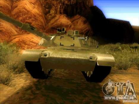 M1A2 Abrams von Battlefield 3 für GTA San Andreas linke Ansicht