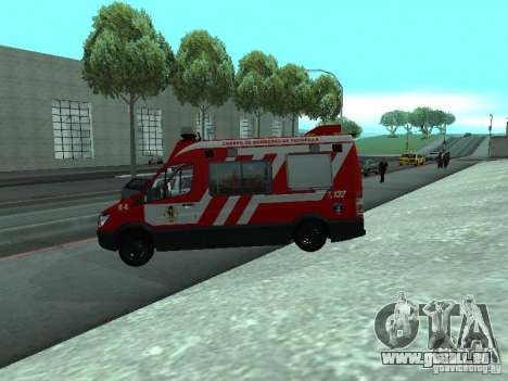 Mercedes-Benz Sprinter R-4 pour GTA San Andreas laissé vue