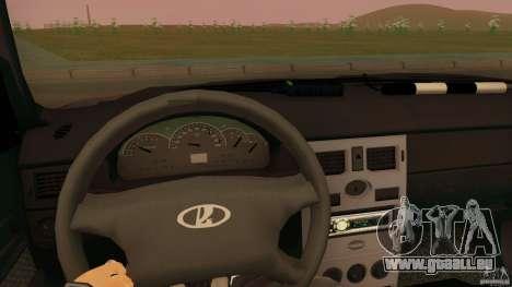 LADA 2170 Polizei für GTA San Andreas zurück linke Ansicht