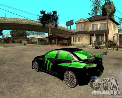 Mitsubishi Lancer Evolution X E&R Prod für GTA San Andreas linke Ansicht