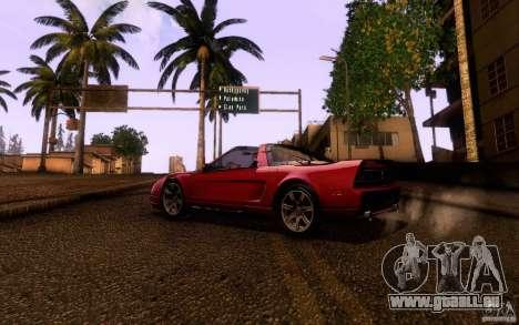 Acura NSX Targa pour GTA San Andreas sur la vue arrière gauche