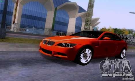 BMW M3 E92 v1.0 pour GTA San Andreas vue intérieure